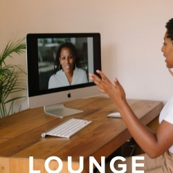 Ask & Give Lounge every Friday at Noon eastern